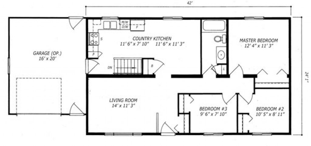Almonte Plan A Al423 1 010 Sq Ft Bungalow Custom Built