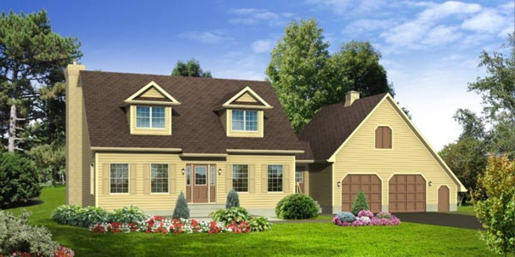 Cape cod cp463 2 016 sq ft two storey custom built for Cape cod modular home floor plans