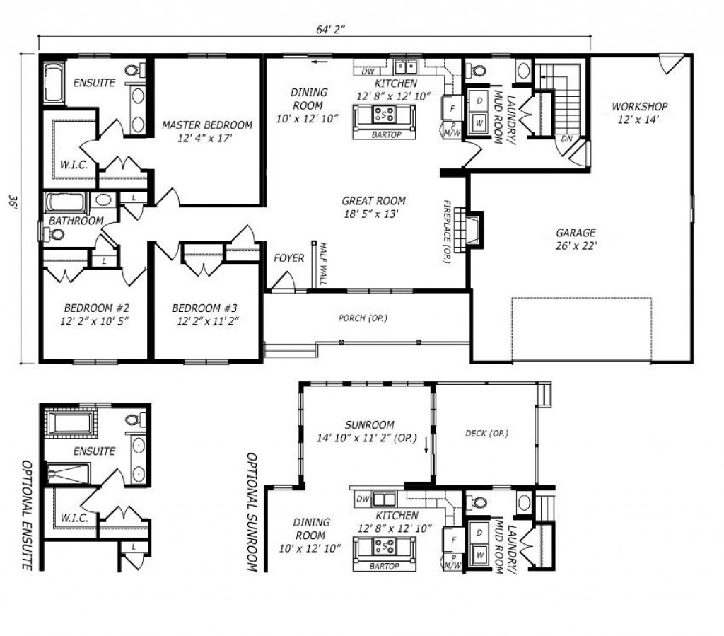 wellington wl643 1 800 sq ft bungalow custom built modular home